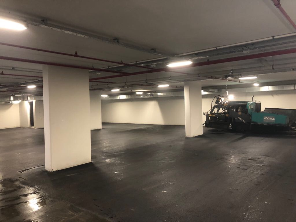 kapalı otopark asfalt