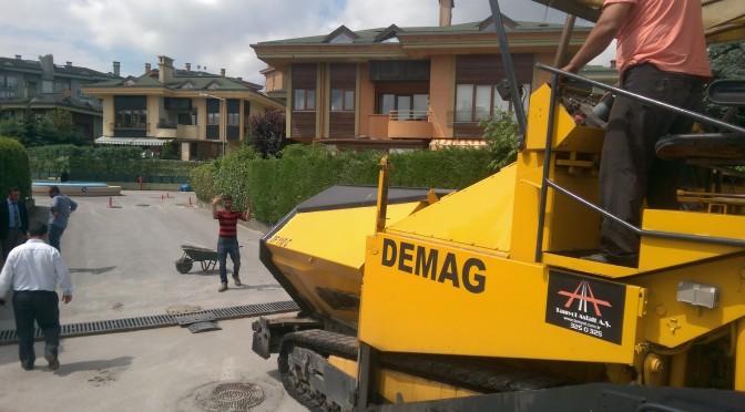 Sinpaş Aqua City 1.Etap Sitesi Asfalt Çalışması