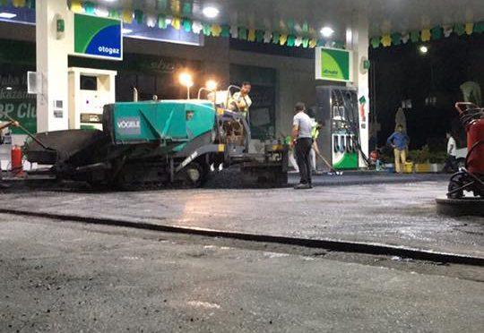 BP istasyon asfalt çalışması
